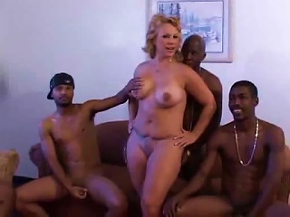 AlphaPorno Porno - Long Gangbng Of A MILF By Black Guys