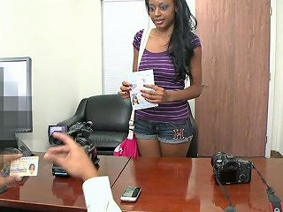 Sex3 Porno - A Messy Facial For An Ebony Hottie After Being Fucked