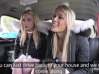 IcePorn Porno - Two Ladies One Huge Dick In A Cab Sex