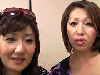 AnyPorn Porno - Threesome With Two Horny Japanese Milfs