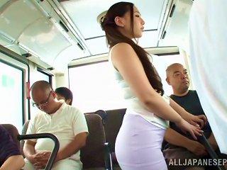 AnyPorn Porno - Curvy Sayuki Kanno Gives Head In A Subway Train