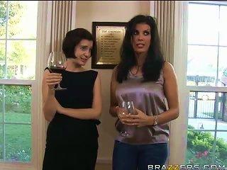 BravoTube Porno - Drunk Brunette Milf Taking A Huge Cock
