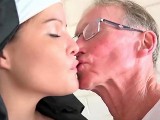 RedTube Porno - Oldman Fucks A Sinful Nun Right In The Chapel 124 Redtube Free Young And Old Porn