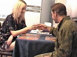 BravoTube Porno - She Serves This Army Guy Some Coffee Then Gives Him The Pussy