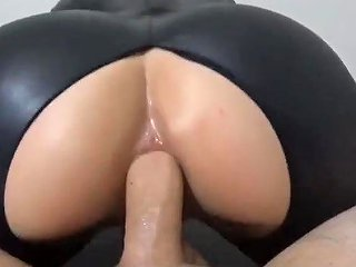 XHamster Porno - Brunette Teen Fucked And Facial In Black Latex Catsuit