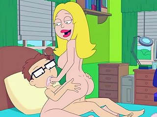 PornHub Porno - American Dad Francine Fucks Steve In His Bedroom