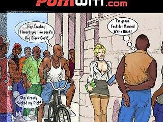 PornHub Porno - White Slut Teacher In Heat For Some Young Hung Black Boys Xxx Comic