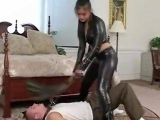 PornHub Porno - Leather Asian Dominates Tied Gagged Slave Boy