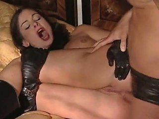 XHamster Porno - Cute Lucy Lee In Long Leather Gloves Boots And Peaked